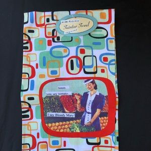 Vintage looking kitchen towel NWT
